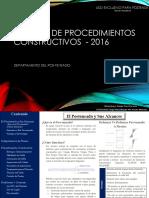 Manual de Procedimientos Constructivos - 2016