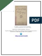 A. Nanteuil - Leçons Et Exercices d'Analyse