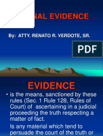 Jurisprudence - Evidence Lecture - Verdote