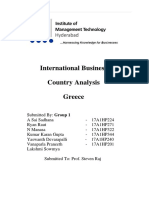 A report on country analysis performed on greece