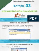Ejercicio 03 - HolaMundo Con JavaScript