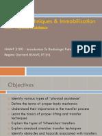 Transfer Techniques & Immobilization Techniques