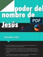 El poder del nombre de Jesús