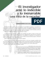 Aranguren - El Investigador Ante Lo Indecible y Lo Inenarrable