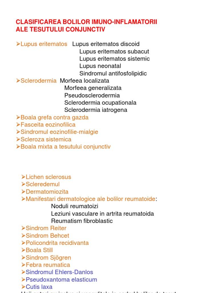 bolile sistemice ale țesutului conjunctiv includ