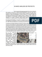 Informe de Avance Análisis de Proyecto