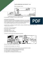AVALIAÇÃO BIMESTRAL DE INGLÊS- 1° ano