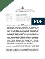 Ri 0078997-57.2015.8.05.0001 Voto Ementa Ação de Cobrança Honorários Perícia Documento Extinção