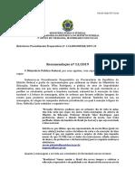 MPF - Recomendacao - Ministro Da Educacao