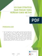 Mitigasi Dan Strategi Pemberian Pakan Yang Rendah Emisi