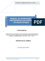 Manual de O&M Agua Potable