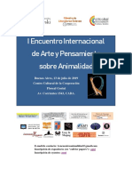 I Encuentro Internacional de Arte y Pensamiento Sobre Animalidad, 2da Circular