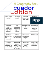 Ecuador Trivia