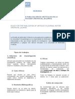 NORMAS PARA LA PUBLICACIÓN DE ARTÍCULOS EN LA REVISTA DE MOTRICIDAD OROFACIAL (RevMOf)