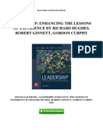 Leadership Enhancing the Lessons of Experience by Richard Hughes Robert Ginnett Gordon Curphy