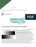 [2017 09 25] Zonas Grises en Las Resoluciones Del INAI (CIDE)