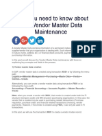 What you need to know about SAP Vendor Master Data Maintenance.docx
