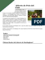 Campeonato Abierto de Polo Del Hurlingham Club - Wikipedia, La Enciclopedia Libre