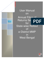 WB EDistrict User Manual Applicant Annual Filing of Returns 0.3 7Apr15