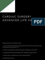 Cardiac Arrest Post Cardiac Surg Patient CALS