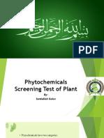 Phytonutrients screening test