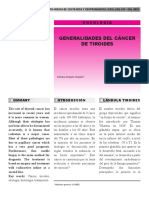 Generalidades Del Cancer de Tiroides