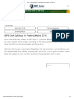 IBPS Clerk Syllabus for Prelims_Mains Exam 2018 - IBPS Guide