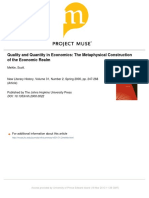 New Literary History Volume 31 issue 2 2000 [doi 10.1353%2Fnlh.2000.0022] Meikle, Scott -- Quality and Quantity in Economics- The Metaphysical Construction of the Economic Realm.pdf