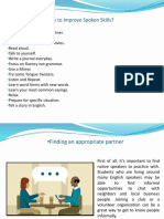 How to improve spoken skills