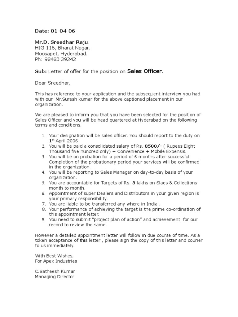 Appointment Letter   Government   Politics
