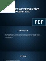 Concept of Preventive Paediatric