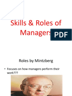 Skills and Roles of Manager
