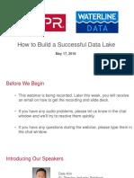 How to Build a Successful Data Lake Webinar - 160517