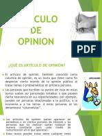 ARTÍCULO DE OPINIÓN