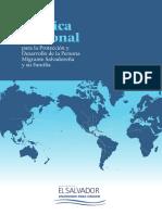 Política Nacional para la Protección y Desarrollo de la Persona Migrante Salvadoreña y su Familia
