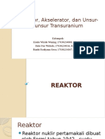 Fix Reaktor, Akselerator, Dan Unsur-unsur Transuranium