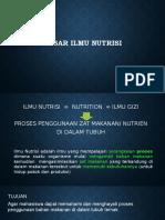 Kuliah 1-2 Dasar Ilmu Nutrisi 2019