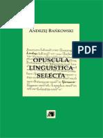 Andrzej Bańkowski - Opuscula linguistica selecta