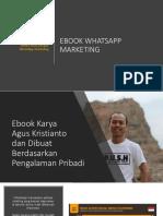 eBook Whatsapp Marketing - New
