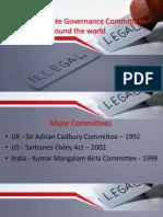 Sir Adrian Cadbury Committee, SOX Act, Kumar Mangalam Birla Committee