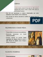 Slides Filosofia Moderna e Questões