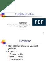 Lecture-20 Premature Labor