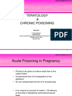 Lecture-38 Teratology and Chronic Poisoning