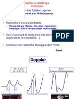 Doppler en Obstetrique