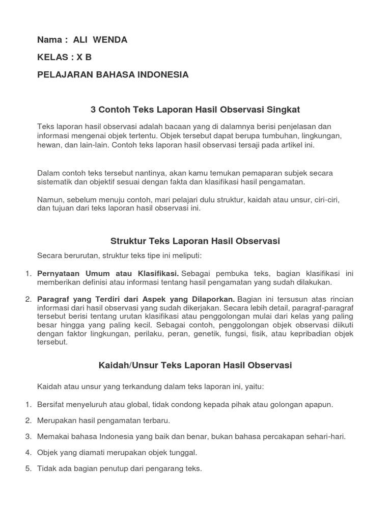 Contoh Laporan Observasi2 Docx