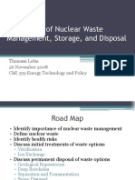 Future Nuclear Waste Management