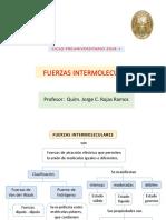 Fuerzas intermolecuares