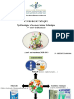 Cours Botanique 1 Nomenclature Et Classification (1)