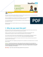 20 Essential interview questions and how to answer + 5 to ask