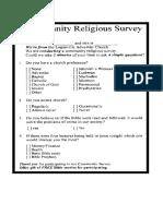 Religious Servey
